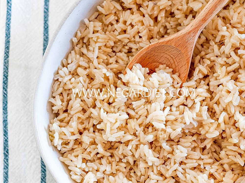 طرزپخت برنج قهوه ایی