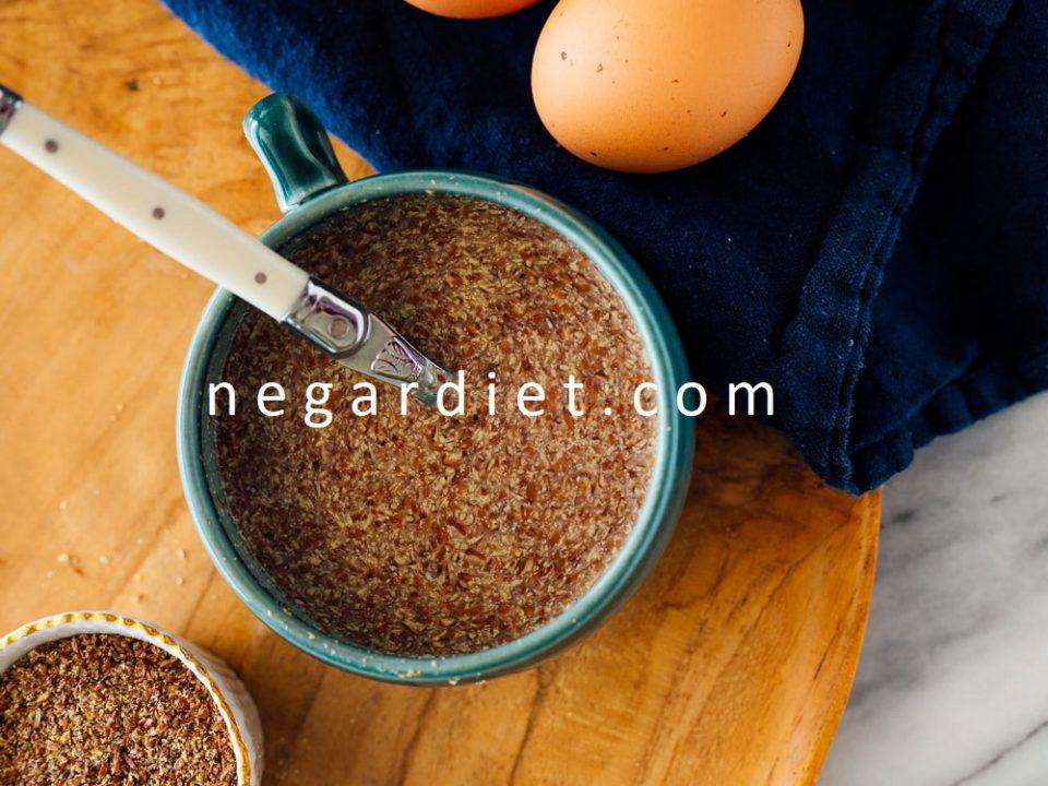 طرز تهیه جایگزین تخم مرغ با دانه کتان